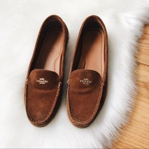 Coach Suede Driving Loafers 9